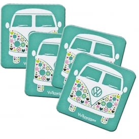 Elgate Patterned VW Campervan Coasters - Set of 4
