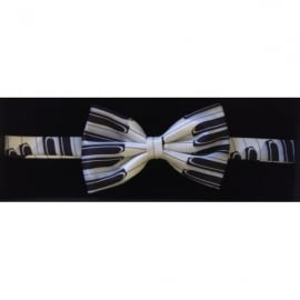 Tie studio Piano Keys Silk Blue/Black Bow Tie