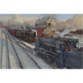 Rothbury Publishing Pines Express at Basingstoke Christmas Cards - Pack of 4