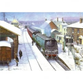 Rothbury Publishing Pines Express at Blanford Christmas Cards - Pack of 4
