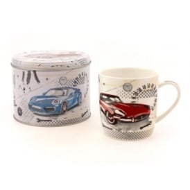 Leonardo Pit Stop Cars Mug in a Tin