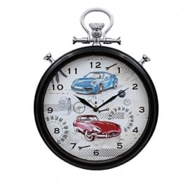 Leonardo Pit Stop Cars Wall Clock
