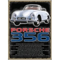 Original Metal Sign Company Porsche 356 Fridge Magnet