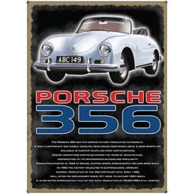 Original Metal Sign Company Porsche 356 Tin Sign