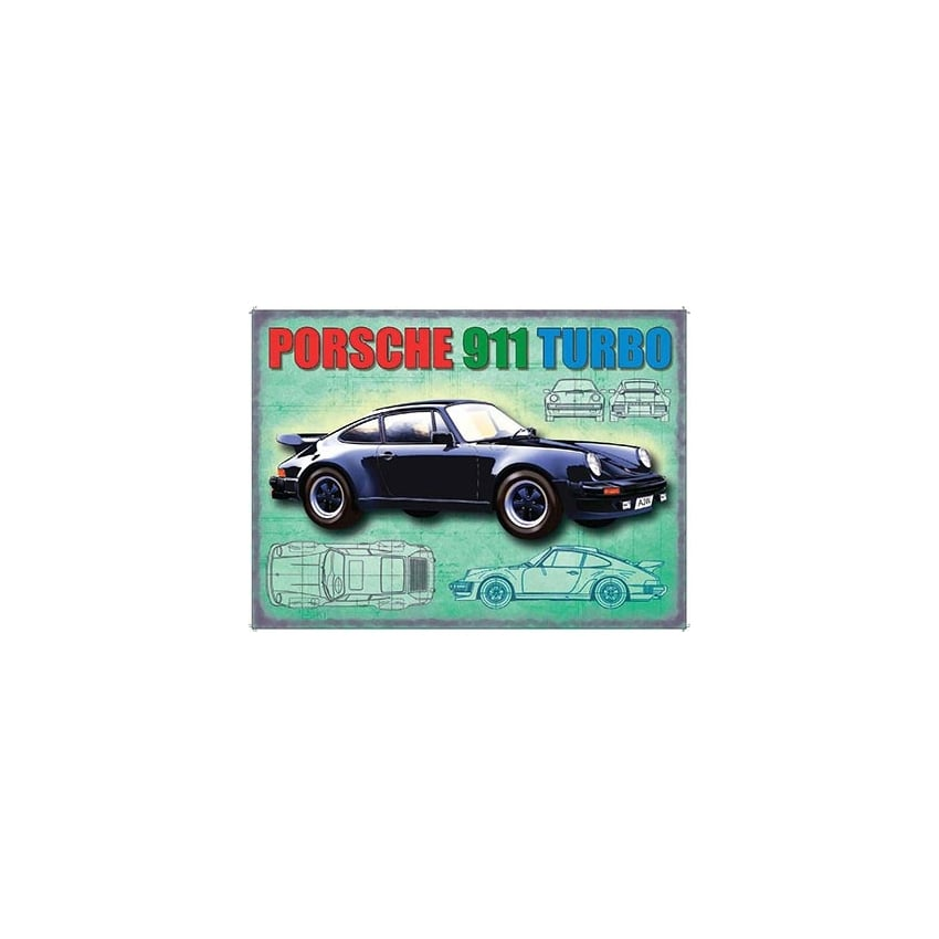 Original Metal Sign Company Porsche 911 Turbo Fridge Magnet