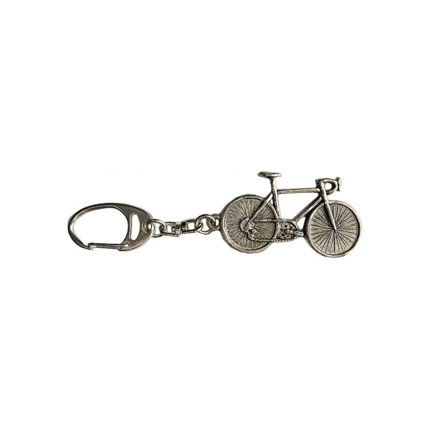 Element Gifts Race Cycle Pewter Keyring