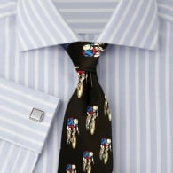 Tie studio Racing Cycling Black Silk Tie