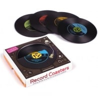 Cubic Record Replica Coasters - Set of 4