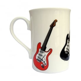 Music Gifts Company Red and Black Electric Guitars Mug
