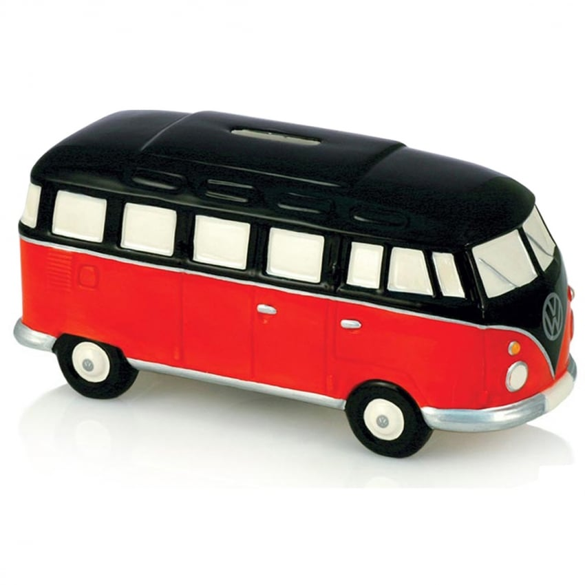 Elgate Red & Black VW Campervan Money Box