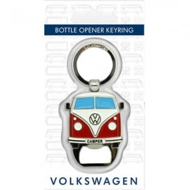 Elgate Red Bottle Opener VW Campervan Keyring