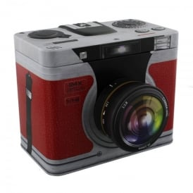 Harvey Makin Red Camera Metal Storage Tin