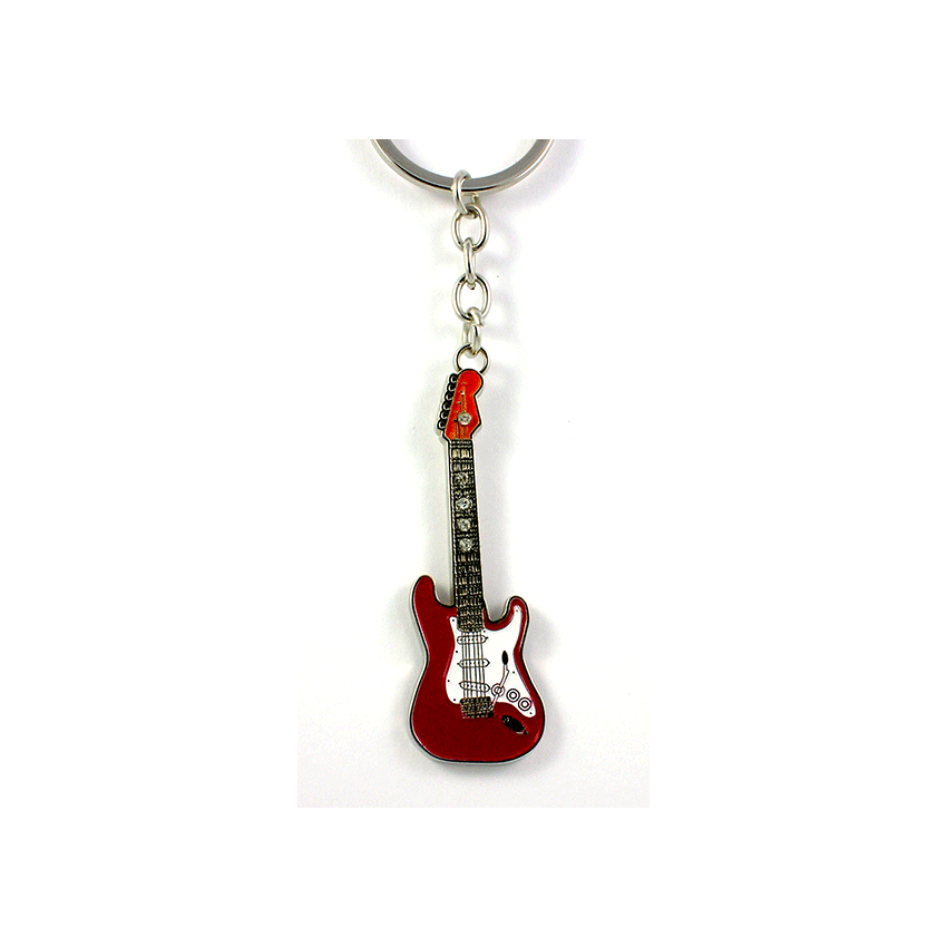 Little Snoring Red Fender Guitar Key Chain