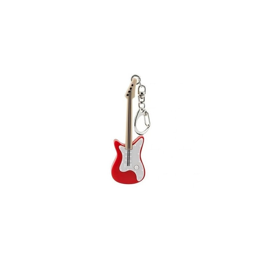 Kikkerland Red Guitar 3D Key Ring
