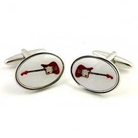 Orchid Designs Red Guitar Cufflinks