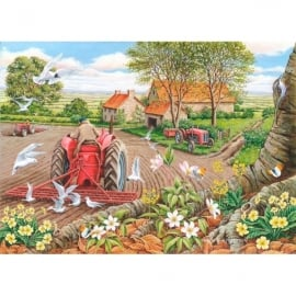 House Of Puzzles Red Harrows Jigsaw - 500 Big Pieces