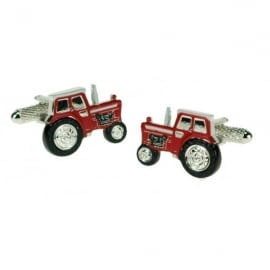 Onyx-Art Red Tractor Cufflinks