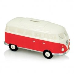 Elgate Red & White VW Campervan Money Box