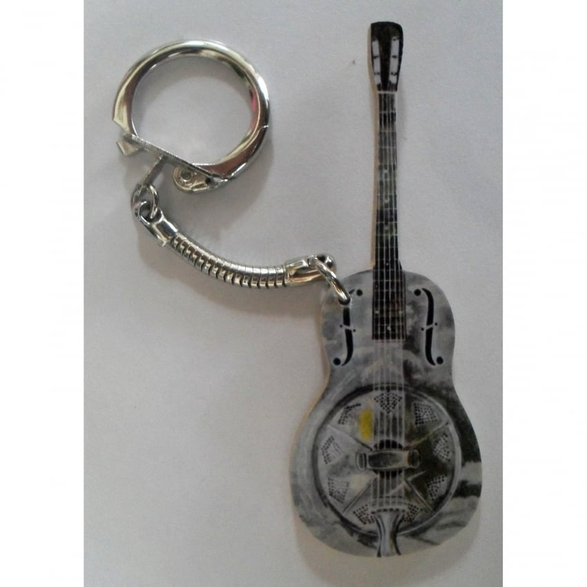 Lark Designs Resonator Guitar Cut Out Keyring