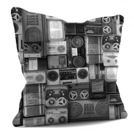 House Of Cushions Retro Blaster Filled Cushion