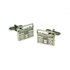 Onyx-Art Retro Boombox Cufflinks