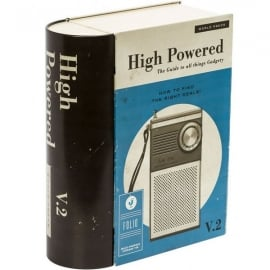 Cubic Retro Radio Book Style Storage Tin