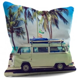 House Of Cushions Retro Surf Campervan Filled Cushion