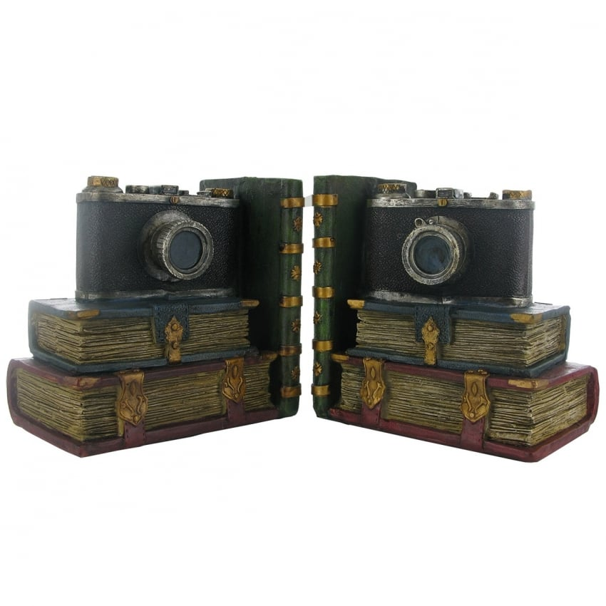 Fiesta Studios Retrol Camera Heavy Bookends