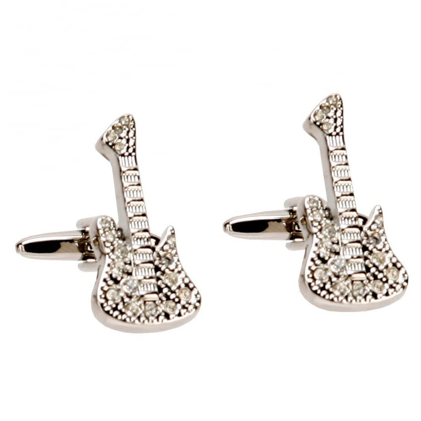 Widdop Rhodium Plated Guitar Cufflinks