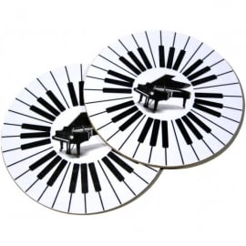 Music Gifts Company Round Piano Mug Coasters - Twin Pack