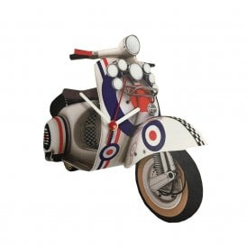 Lark Designs Roundel Scooter Cut Out Wall Clock
