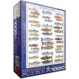EuroGraphics Salmon and Trout Jigsaw - 1000 Pieces