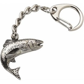 WestAir Salmon Pewter Keyring
