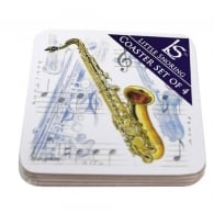 Little Snoring Saxophone Coasters Set of 4