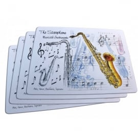 Little Snoring Saxophone Placemats Set of 4