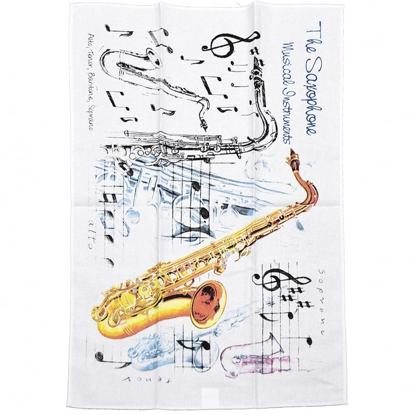 Little Snoring Saxophone Tea Towel