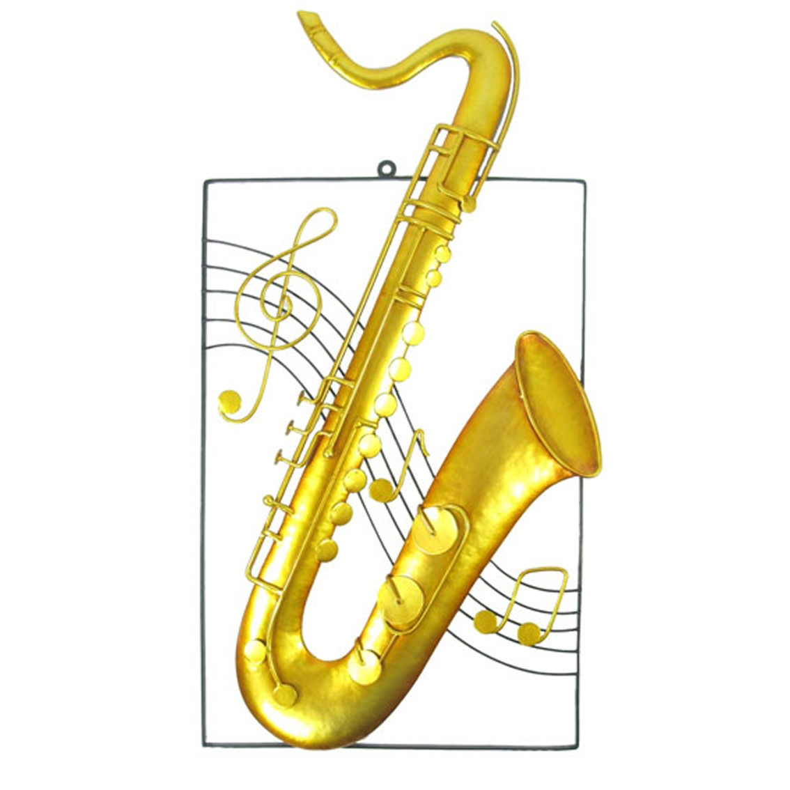 Twinkle Saxophone Metal Wall Art