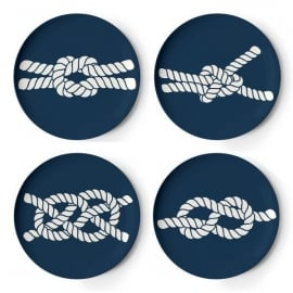 Cubic Scimshaw Fishing Knot Coasters - Set of 4