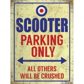 Original Metal Sign Company Scooter Parking Only Metal Sign