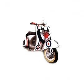 Lark Designs Scooter White Target Cut Out Jumbo Magnet