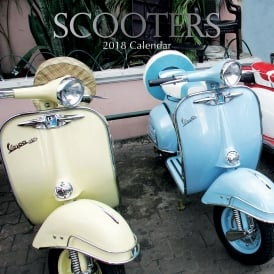 Gifted Stationery Scooters 2018 Calendar