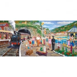 Gibsons Seaside Train Jigsaw - 636 Pieces