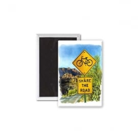Star Editions Share The Road Fridge Magnet