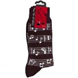 Tie studio Sheet Music Socks in Black