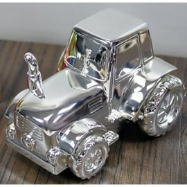 Widdop Silver Plated Tractor Money Box