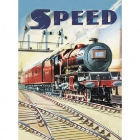Half Moon Bay Speed - Railway Tin Sign
