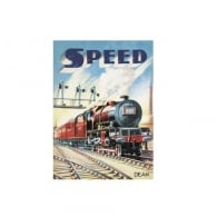 Half Moon Bay Speed Train Fridge Magnet
