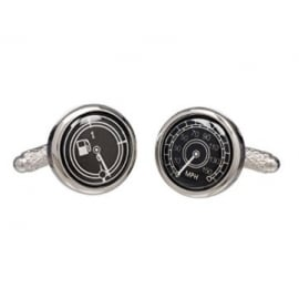 Onyx-Art Speedo / Petrol Gauge Cufflinks