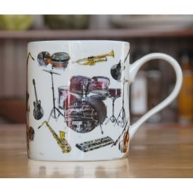 Julia Hook Designs Sport Hobby Drums Mug