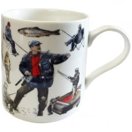 Julia Hook Designs Sport Hobby Fisherman Mug